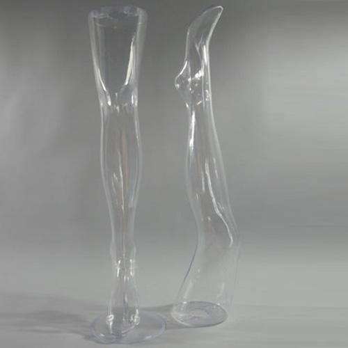 Gamba trasparente per esposizone calze calzini e collant donna