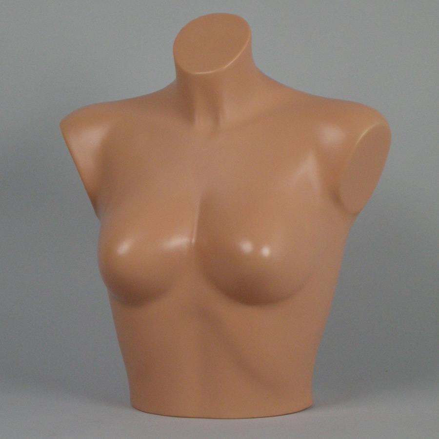 Mezzo busto color carne donna per esposizione reggiseni