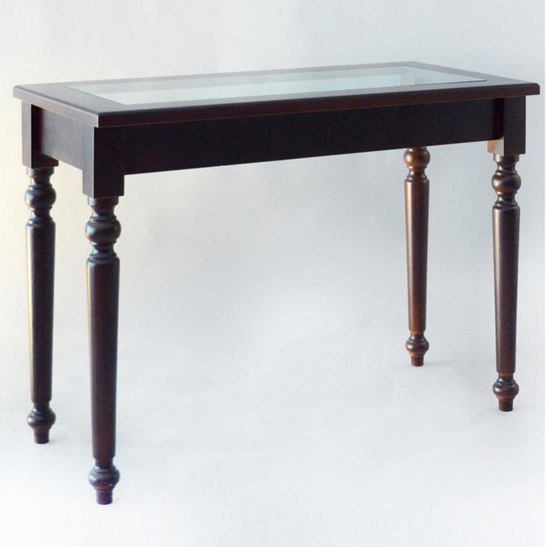 Tavolo da esposizione in legno e vetro for Tavolo vetro e legno